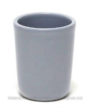 Стаканчик керамический для ванных принадлежностей, цвет серый