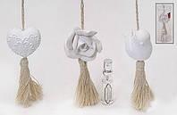 Парфюмированная подвеска в наборе с ароматизатором (3 аромата - Английская Лаванда, Цветок Индийского Хлопка, Белый чай и Имбирь)