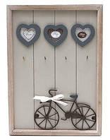 Рамка для фотографий деревянная с крючками Велосипед