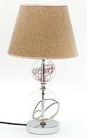 Лампа с тканевым абажуром