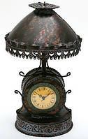 Часы настольные металлические в форме лампы с абажуром