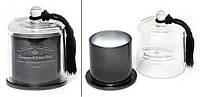 Свеча ароматизированная в стекл. подсвечнике с куполом и кисточкой (черный, 120г), аромат: ноты хвои и белой березы