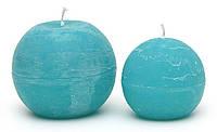 Свеча в форме шара 10см, цвет - лагуна
