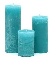 Свеча цилиндрическая 10см, цвет - лагуна