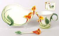 Подарочный набор 3пр.: чашка + блюдце + ложка
