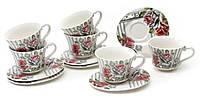 Чайный набор 12пр.: 6 чашек + 6 блюдец