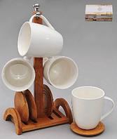 Чайный набор 8пр. 'Naturel' на бамбуковой подставке