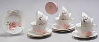 "Чайный набор на 6 персон, 12 пр ""Бантик"""