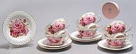 """Чайный набор на 6 персон, 12 пр """"Розы"""""""