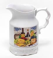 Кувшин керамический 1500мл, серия Cheese&Wine