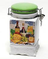 Банка керамическая на затяжке 1040мл, серия Cheese&Wine