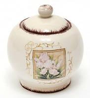 Сахарница керамическая 450мл, серия Розовый ирис