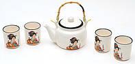 Чайный набор: чайник, 4 чашки