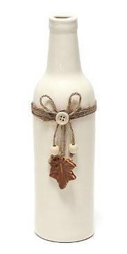 Ваза керамическая в форме бутылки с декором 26,5см