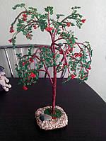 """Сувенир подарок дерево """"Рябинка"""" из бисера"""