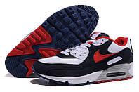 Мужские кроссовки Nike Air Max 90 (найк аир макс) черно-белые