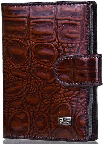 Деловой  бумажник для водителя WANLIMA (ВАНЛИМА) W71041560054-coffee (коричневый)