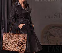 Женская сумка с леопардовым принтом