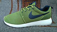 Мужские повседневные кроссовки NIKE Roshe Run зеленые
