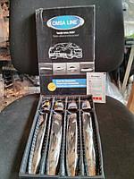 Накладки на ручки на Мицубиси Ланцер-10 с 07> (нерж.) под чип OMSALINE