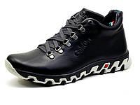 Мужские зимние ботинки Gekon Dynamique 20RTM, черные, кожаные, фото 1