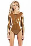 Купальник из латекса с открытой спиной и молнией спереди Latex Swimsuit Open Back With Zipper