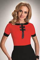 Женская блуза красного цвета с коротким рукавом. Модель Bibiana Eldar, коллекция весна-лето 2016