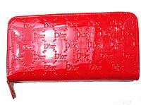 Женский кошелек барсетка Dior 3113 кожа красный