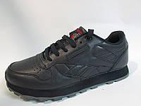 Мужские кроссовки Reebok (9168-2) синие натуральная кожа код 871А