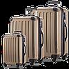 Чудесный набор 4-колесных пластиковых чемоданов HAUPTSTADTKOFFER alex set bronze бронзовый