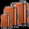 Пластиковый 4-колесных надежный набор чемоданов HAUPTSTADTKOFFER alex set orange оранжевый