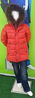 Пальто на пуху двухсторонний капюшон