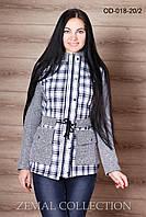 Куртка молодежная трикотаж+каттон OD-018 р.44-48