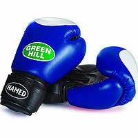 """Перчатки боксерские для начинающих """"HAMED"""" Green Hill 10 oz"""