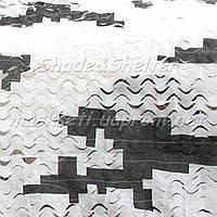 """Сеть маскировочная S&S серия Basic, """"Пиксель"""" - зима, размеры: 3х6 м"""