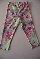 Лосины для девочек с цветами лето 1-2 года. Турция!!! 100 % хлопок. Детская летняя одежда.