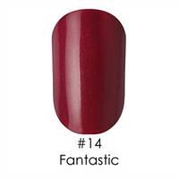 Гель-лак Naomi Gel Polish 14 - Fantastic, 12 мл (фиолетово-бордовый с проглядывающей пыльцой красной слюды)