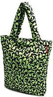 Оригинальная женская дутая стеганая сумка с принтом из болоньи POOLPARTY pool-61-green-rabbits