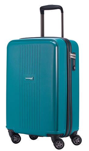 Пластиковый 4-колесный малый дорожный чемодан 37 л. HAUPTSTADTKOFFER fhain mini blue синий