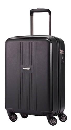 Малый практичный 4-колесный дорожный чемодан 37 л. HAUPTSTADTKOFFER fhain mini graphite графитовый