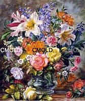 "Алмазная мозаика ""Цветочная ваза на столе"""