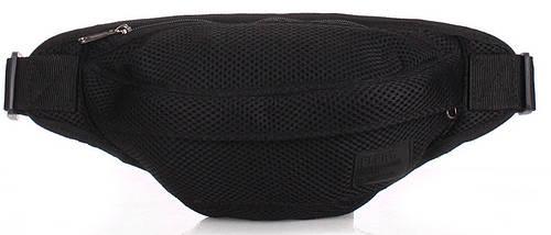 Мужская практичная сумка на пояс POOLPARTY bumbag-mesh-black