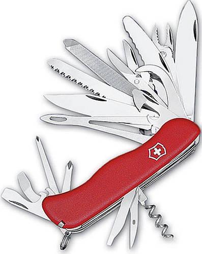 Мощный армейский складной нож Victorinox WORKCHAMP 09064.XL красный