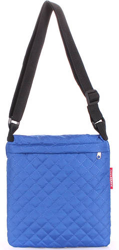 Синяя женская сумка -планшет из болоньи POOLPARTY pool-59-eco-brightblue