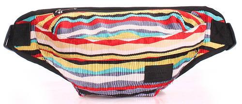 Женская компактная сумка на пояс POOLPARTY bumbag-velvet-red