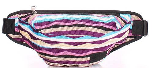 Женская вместительная сумка на пояс POOLPARTY bumbag-velvet-violet