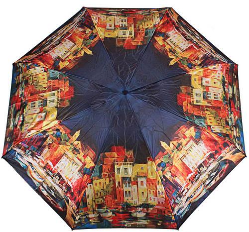 Яркий женский зонт компактный автомат ZEST(ЗЕСТ), Z24984-2 Антиветер!