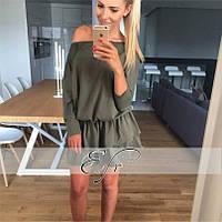 Модное молодежное платье юбка в рюши