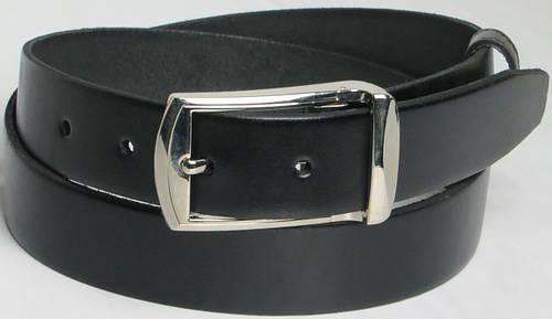 Брючный мужской кожаный ремень Skipper 5665 чёрный ДхШ: 123х3,5 см.