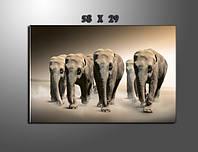 """Модульная картина """"Слоны"""" фотопечать на холсте"""